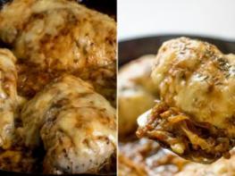 Հավը ֆրանսիական ձևով, անմահական համ ունի, հավն ուղղակի հալվում է բերանում, պանիրը …. մի խոսքով պատրաստեք և համտեսողները հիացած ձեզ կնայեն