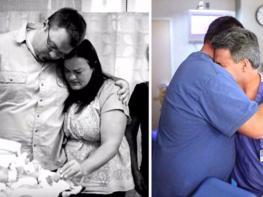 Ребёнок этой пары умер в родильной палате. Спустя 10 месяцев тот же врач не мог сдержать слёз, став свидетелем чуда