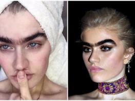 Այս մոդելը հրաժարվում է բարակացնել իր հոնքերը՝ համարելով, որ ինքն այդպես ավելի լավ տեսք ունի