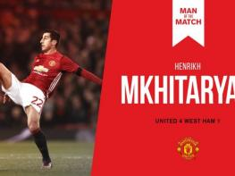 EFL Cup: Mkhitaryan is recognized Man of the Match