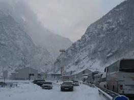 Ստեփանծմինդա-Լարս ավտոճանապարհը փակ է բեռնատար ավտոմեքենաների համար