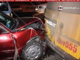 Цепная авария в Ереване: Виновник происшествия был пьян