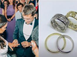 Ի՞նչ են խորհրդանշում Լեւոն Արոնյանի եւ Արիանայի ամուսնական մատանիները. Դիզայներ